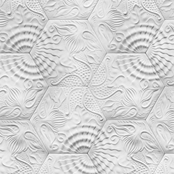 IVANKA Gaudi is a floor and wall covering with a motive designed by the famous Catalan architect, Antoni Gaudí and produced from high performance IVANKA concrete