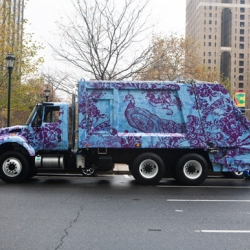 Philadelphia's Mural Arts Program partnered with The Design Center at Philadelphia University to wrap 10 Trucks with bold graphics inspired by historic textiles.