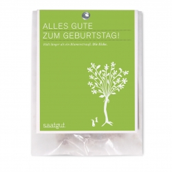 Cute little greeting cards by saatgut with assorted tree seeds to make your own contribution to reforestation.