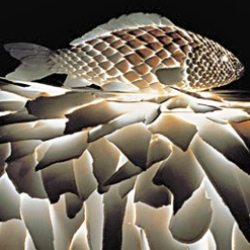 After watching, the Sketches of Frank Gehry (which I recommend), I had to post this Fish Lamp he created in the '80s. I absolutely love them.