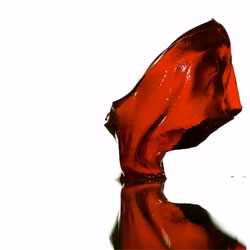 Cherry gelatin bouncing in slow motion. Video is simply amazing.