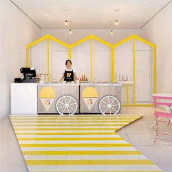 Pop up gelato shop Dri Dri, at St Martins Lane by Elips Design.