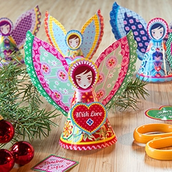 Cataline Estrada Holiday Angels! Download and print your own!