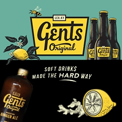 "Gent's Gingerale ""soft drinks made the hard way"" - from Lexington, Kentucky - great branding! Check out the instagram to see more."