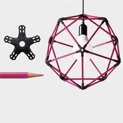 Fun idea ~ those old school geometric polygon building kits as a lampshade... or at least the base structure for one...