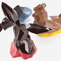Kaleidoscope ~ Lovely geometric/faceted easter chocolates of La Grande Epicerie de Paris and chocolatier Daniel Mercier.