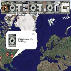 You have a  message from Geo-Greeting, an alphabet entirely built from google earth images.