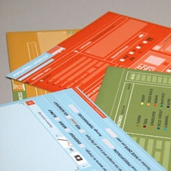 Postcard set specifically designed to extract your geographic information.