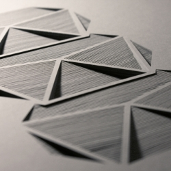 Geometric pieces of paper created layer by layer by layer, from paper artist Elena Mír. Works created between 2009 to 2013. Enjoy!