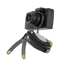 The Gerber Steady will be released in 2012 and is rumored to hold a knife, 12 other implements as well as working as a tripod.