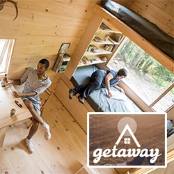 Getaway. Try out living in a tiny house within 2 hours of Boston. This project has emerged out of Harvard Innovation Lab and Millennial Housing Lab.