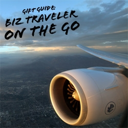 Gift Guide ~ For the Business Travelers constantly on the go! Picks that will help make the non stop bouncing between planes and taxis and hotels a bit easier...