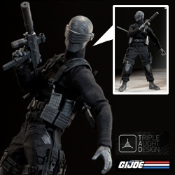 Sideshow Collectibles is proud to present the Snake Eyes and Timber Sixth Scale Figure set. Featuring a detailed Triple Aught Design Gear costume and a full arsenal of weaponry!