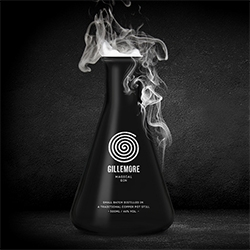 Gillemore Magical Gin - love the matte black erlenmeyer flask with cork packaging