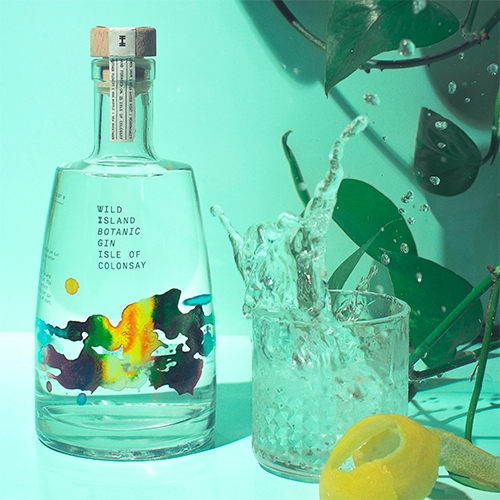 Wild Island Botanic Gin - Isle of Colonsay. Lovely packaging/photography from Thirst Craft.