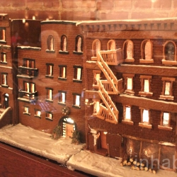 Gingerbread Brooklyn: An entire NYC block made out of gingerbread by Renee Baumann.