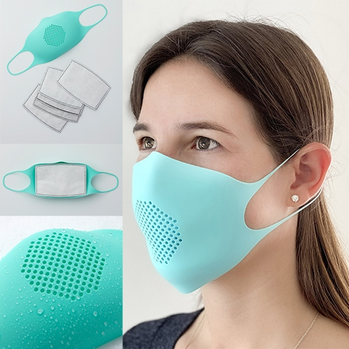 GIR (Get It Right - makers of our favorite silicone ladle) is making reusable silicone face masks with disposable filters. Silicone masks can be sterilized in a microwave, autoclave, dishwasher, oven, or boiled stovetop.