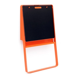 Tolix Girafe Blackboard Designed by Sébastien Cordoleani & Frank Fontana ~ love the wall lean and the orange, secretly wishing it was a whiteboard.
