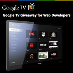 Google is giving away 10,000 GoogleTVs to web developers... love this initiative to get the box in the hands of those who can push and shape where the platform will go!