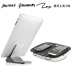 NOTCOT Holiday Giveaway #27 comes from Belkin! Chance to win a Belkin Flip Blade for iPad and a Belkin Conserve Valet!