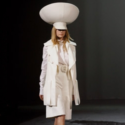 Fashionlines has great coverage of the Givenchy Paris Spring Summer show ~ these incredible hats would put carmen miranda to shame...