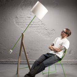 StrawberryKingdom is a new design studio from Poland. They have created the Good King Henry Lamp as one of their first designs.