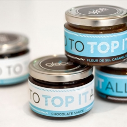 Nathaniel Cooper and Brent Anderson designed the packaging for Glace Artisan Ice Cream.