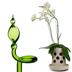 Curly Glass Flower Supports from a Thuringian glass-works