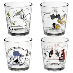 Fishs Eddy's Nursery Glassware ~ I just hand carried these adorable glasses back from a walk in NY ~ perfect size, beautiful illustrations!
