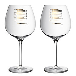 Musical Wine Glasses - the markings tell you exactly what to fill it to for each note