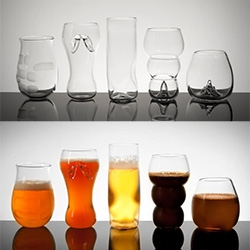 Pretentious Beer Glasses - beautiful, unique, glass blown shapes!