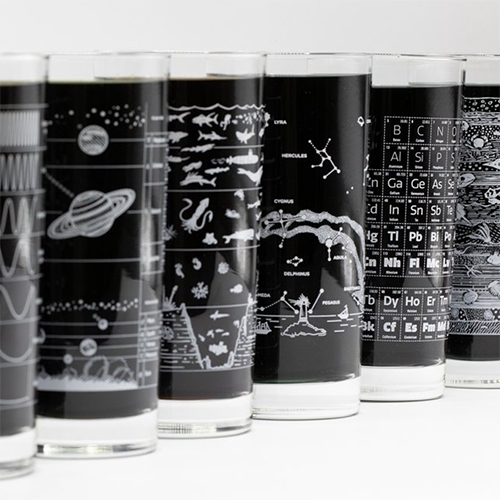 Cognitive Surplus drinking glasses are so tempting (even as educational vases?) - especially loving Above the Earth, Beneath the Waves, and the Solar System designs.