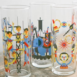 The Glass Menagerie, series of glasses designed by Patrick Hruby for Fishs Eddy.