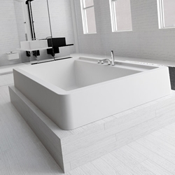 The 'Global' bath from Hidrobox by leading Spanish designers, Roviras and Torrente. It can be either built in or semi-built in to the floor.