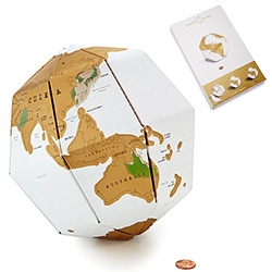 First came the Scratch Maps ~ now there's a pop up cardboard Scratch Globe! Scratch off all the places you've been...