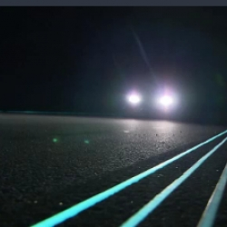 First glow in the dark highway opened in the Netherlands.