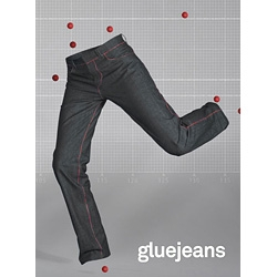 An innovative denim design from Amsterdam - the jeans are held together not by thread, but by glue.