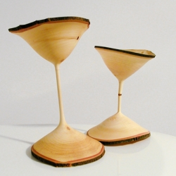 A Couple of Quirky Maple Goblets by Greg Gallegos of Natural Selection Studio