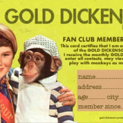 "To promote our film production company we sent out our facebook fans a retro looking ""Membership fan club card"" and people started submitting pics with their cards. The link has some of the pics that peeps have submitted."