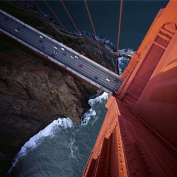 unbelievable shot of the golden gate bridge.
