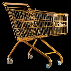 So you've got a gourmet grocery store in Istanbul called Okko, right? How do you promote it? Golden shopping carts, of course!
