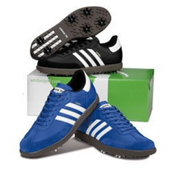 TaylorMade-Adidas has an unexpected twist on the golf shoe - Samba Golf Shoe ~ fun colors too