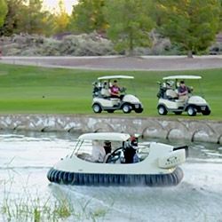 Bubba's Hover - a project by Bubba Watson and Oakley. Hovercraft Golf Cart which moves on land, water and greens with same precision.