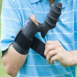 Bionic glove to help golfer with the hand deformity.