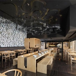 Interior design of the Taiwan Noodle House by Golucci International Design.