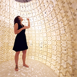 Emerging Objects' saltYgloo - an igloo made of 3D printed salt harvested from San Francisco Bay.