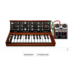 Google's homepage pays tribute to Robert Arthur Moog, commonly called Bob Moog, who was an American pioneer of electronic music, best known as the inventor of the Moog synthesizer.