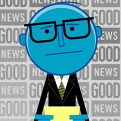 Roger Numbers is the new animated host for a daily morning web newscast created by GOOD magazine...
