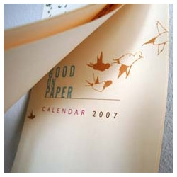 pretty new calendar from good on paper design.