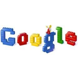 The Google logo has been LEGO-ified this morning, to celebrate the 50th anniversary of the iconic  plastic brick.